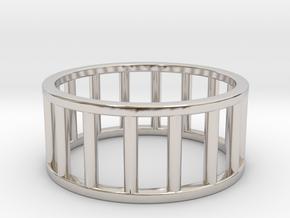 Albaro Ring- Size- 10 in Rhodium Plated Brass
