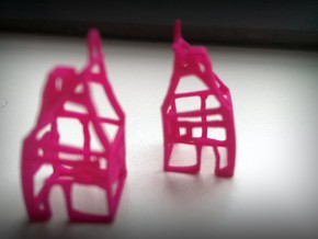 House-earrings SET in Pink Processed Versatile Plastic