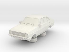 1:87 escort mk 2 4 door standard square headlights in White Natural Versatile Plastic