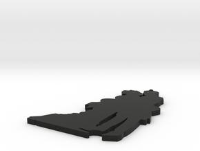 Victorian Silhouette in Black Natural Versatile Plastic