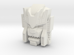 Headmonster Warewolf Face (Titans Return) in White Natural Versatile Plastic