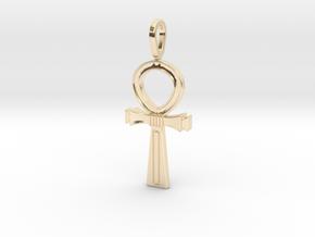Ankh Cross Pendant in 14K Yellow Gold