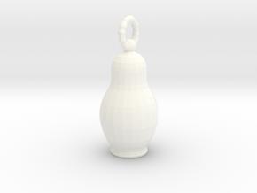 Matreshka pendant in White Processed Versatile Plastic