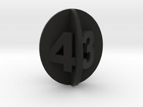 Spheroid Envelope dice Set in Black Natural Versatile Plastic: d4