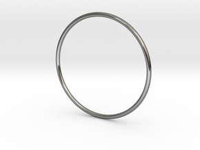 Slim simplicity bangle in Premium Silver