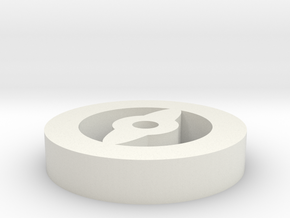 Focus Token in White Natural Versatile Plastic