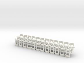 O Scale 1/48 Pedestal School Desks x 24 for SWF an in White Natural Versatile Plastic
