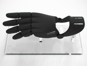 Partial Hand Prosthesis in Black Strong & Flexible