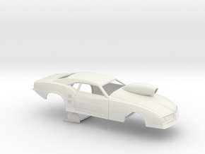 1/18 68 Firebird Pro Mod W Scoop in White Natural Versatile Plastic