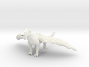Dragon Statue in White Natural Versatile Plastic
