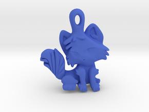 Kitty Cat Pendant Charm in Blue Processed Versatile Plastic