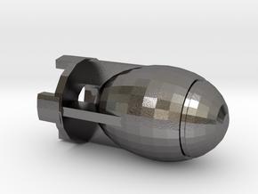 Fatman Bomb in Polished Nickel Steel