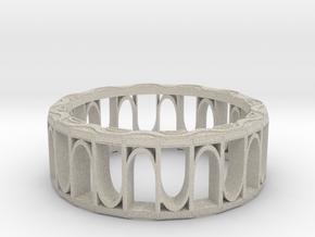 Ring, Design 2, 26mm diameter in Natural Sandstone