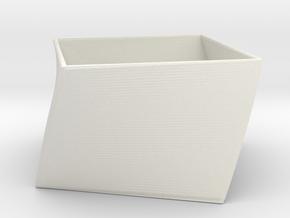 TwistBox in White Natural Versatile Plastic