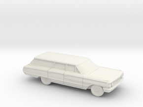 1/87 1964 Ford Country Squire Station Wagon in White Strong & Flexible