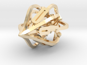 'Kaladesh' D10 Spindown Life Counter in 14k Gold Plated Brass