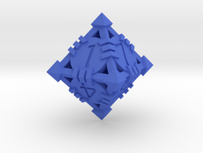 D8 - Andrew Bell 3d - Design1 in Blue Strong & Flexible Polished