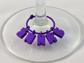 SNARF - Wine Charm in Purple Strong & Flexible Polished