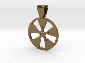 Amaranthine Pendant in Polished Bronze