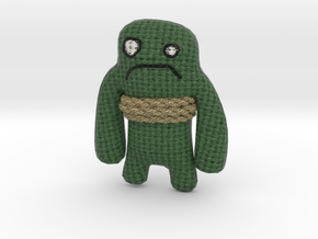 Trivia Murder Party Green Avatar in Full Color Sandstone
