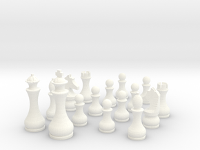 Pomo Standard Chess Set in White Strong & Flexible Polished