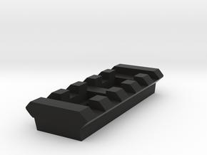 5 Slots Rail (Pre-Drilled) in Black Natural Versatile Plastic