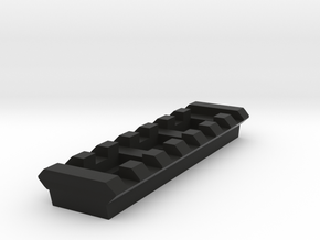 7 Slots Rail (Pre-Drilled) in Black Natural Versatile Plastic