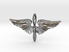 The Prop and Wings in Polished Silver