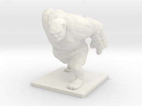 Ogre Miniature in White Natural Versatile Plastic