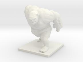 Ogre Miniature in White Natural Versatile Plastic