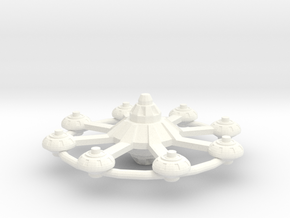 Eight Point Station (Smaller) in White Strong & Flexible Polished