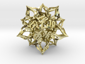 'Kaladesh' D20 Spindown Life Counter in 18k Gold Plated Brass