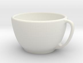 Larger Handled Mug in White Strong & Flexible