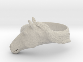 Horse Ring - Unspecified Size in Natural Sandstone