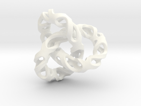 Torus in White Processed Versatile Plastic