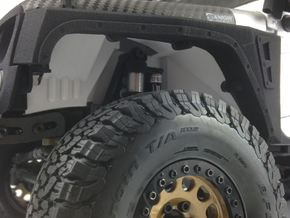 AJ50001 SCX10 II JK & G6 body Inner Fender FRONT in Black Strong & Flexible
