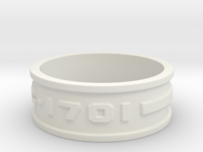 jewelry NCC-1701 ring in White Natural Versatile Plastic: 9.5 / 60.25
