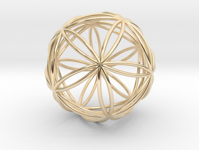 Icosasphere in 14K Yellow Gold
