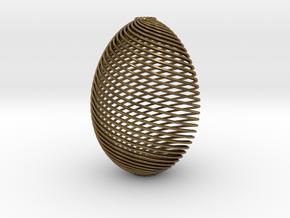 Designer Egg in Natural Bronze