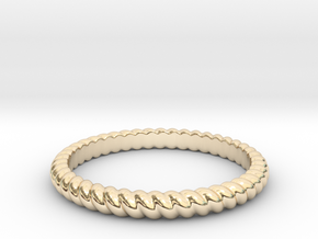 Lasso Rope Ring in 14k Gold Plated Brass: Small