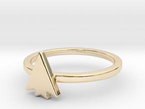 Split Arrow Head in 14k Gold Plated Brass: Small