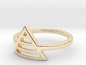 Teepee Stripe Ring in 14k Gold Plated: Small