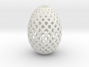 Ester Egg Round in White Strong & Flexible