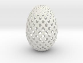 Ester Egg Round in White Natural Versatile Plastic