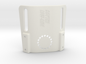 Scythe low-ride holster platform for 50mm duty bel in White Natural Versatile Plastic