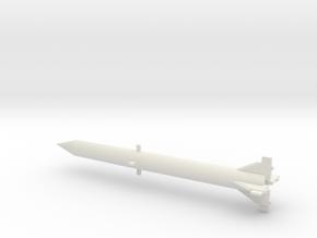 1/110 Scale Redstone Missile in White Natural Versatile Plastic