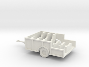 1/110 Scale M480 Aft Missile Trailer in White Natural Versatile Plastic