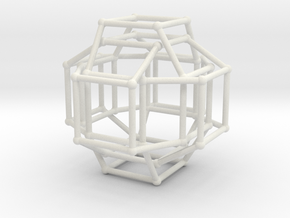 Cayley Graph of the 1x2x3 (cube) in White Natural Versatile Plastic