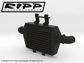 RS10004 Ripp Intercooler JK - BLACK in Black Natural Versatile Plastic