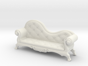 Victorian Chaise Lounge v4 in White Strong & Flexible